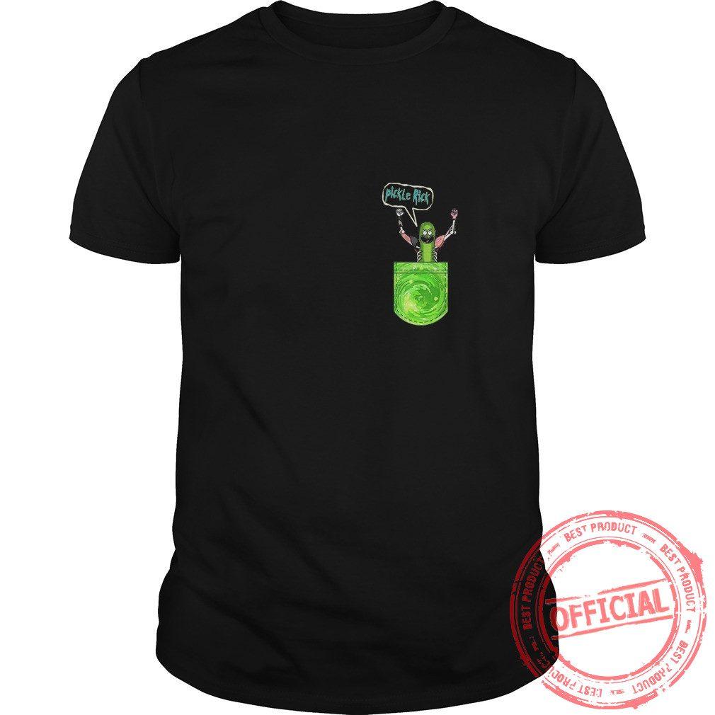 Pickle Funny Rick Pocket Shirt