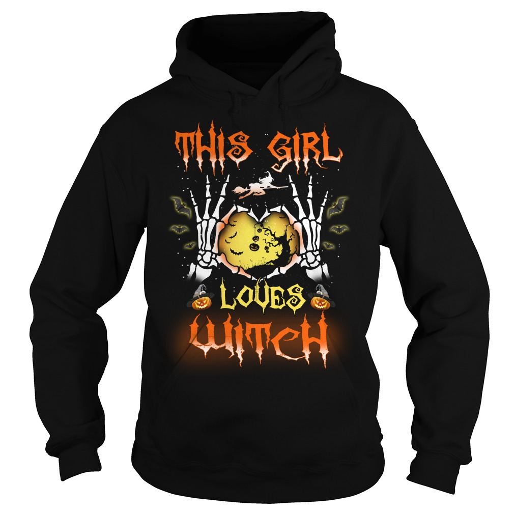 This Girl Loves Witch Shirt, Hoodie, Tank Top, Ladies Tee, V Neck T Shirt
