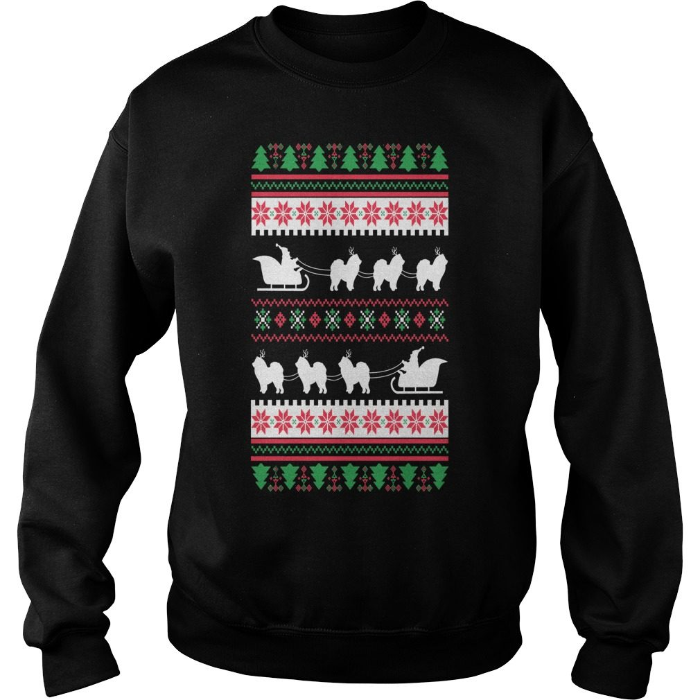 Chow Chow Santas Reindeer Christmas Ugly Sweater