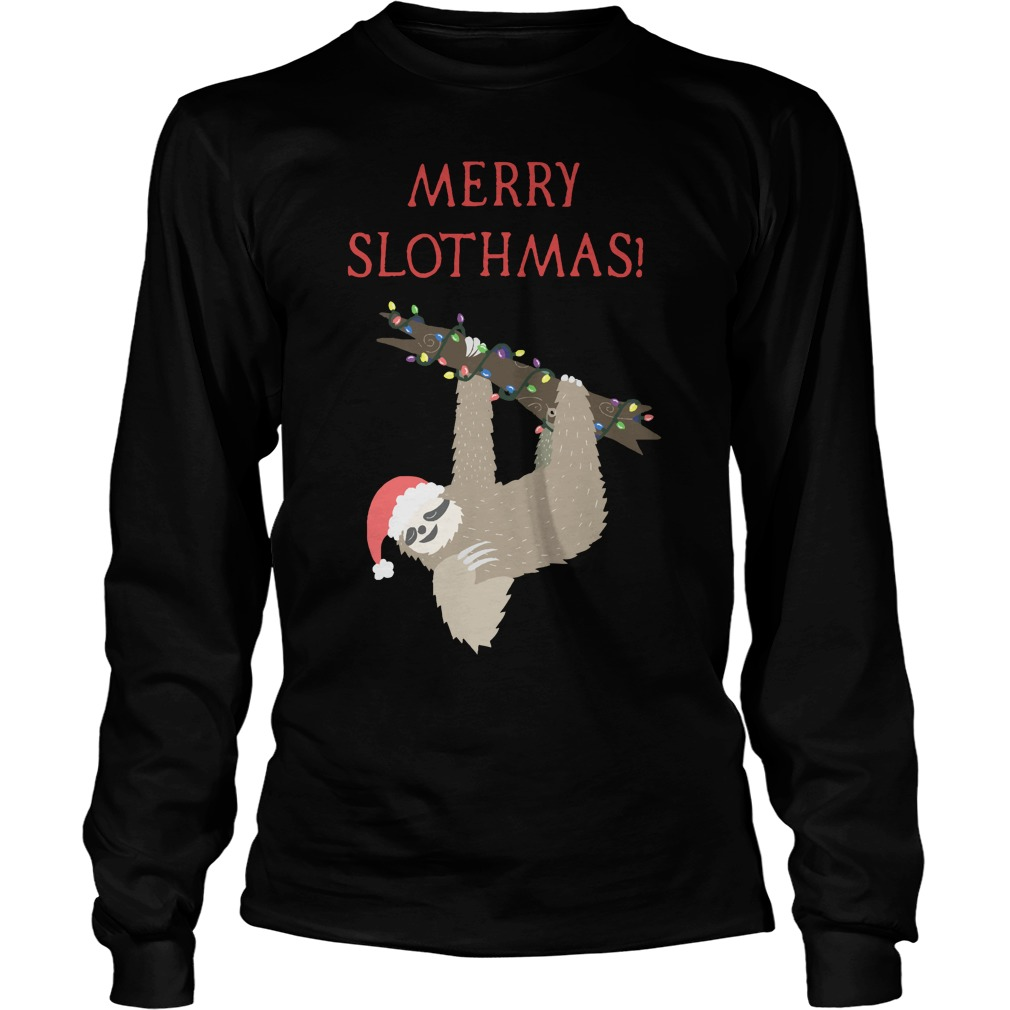 Christmas Sloth Longsleeve Tee