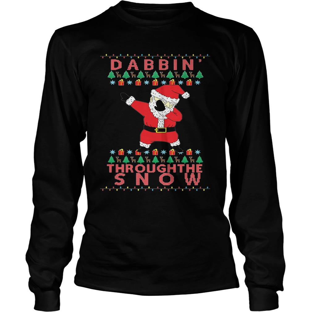 Dabbin Through The Snow Sweater