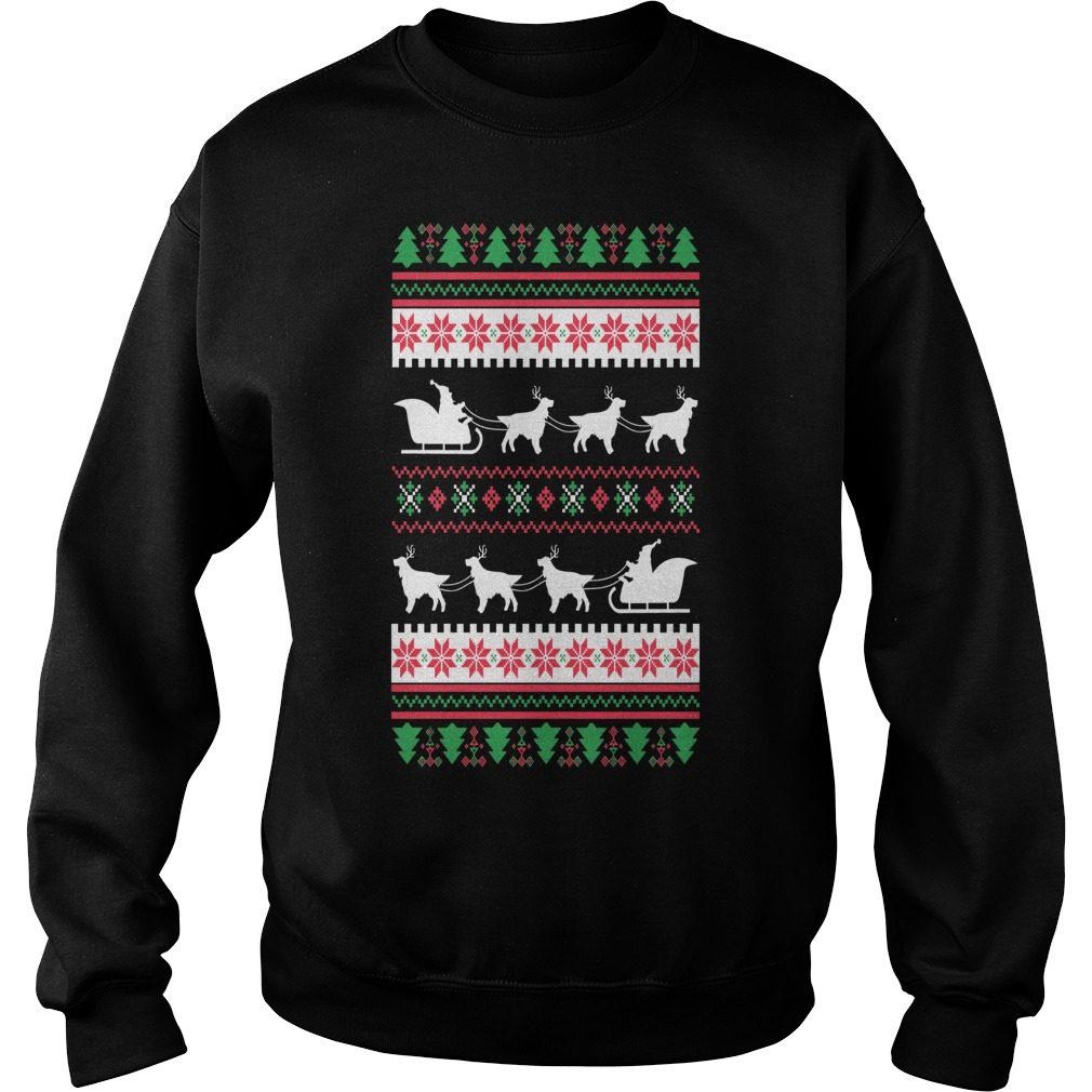 English Setter Santas Reindeer Christmas Ugly Sweater