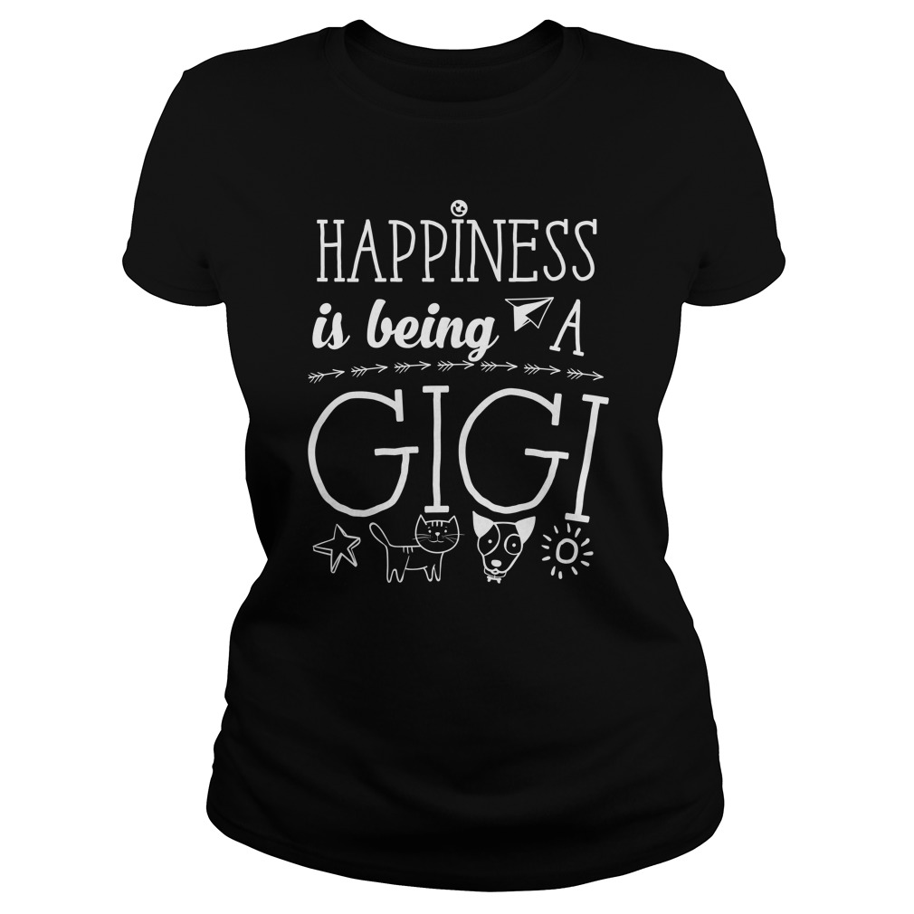 Happiness Is Being A Gigi Ladies Tee