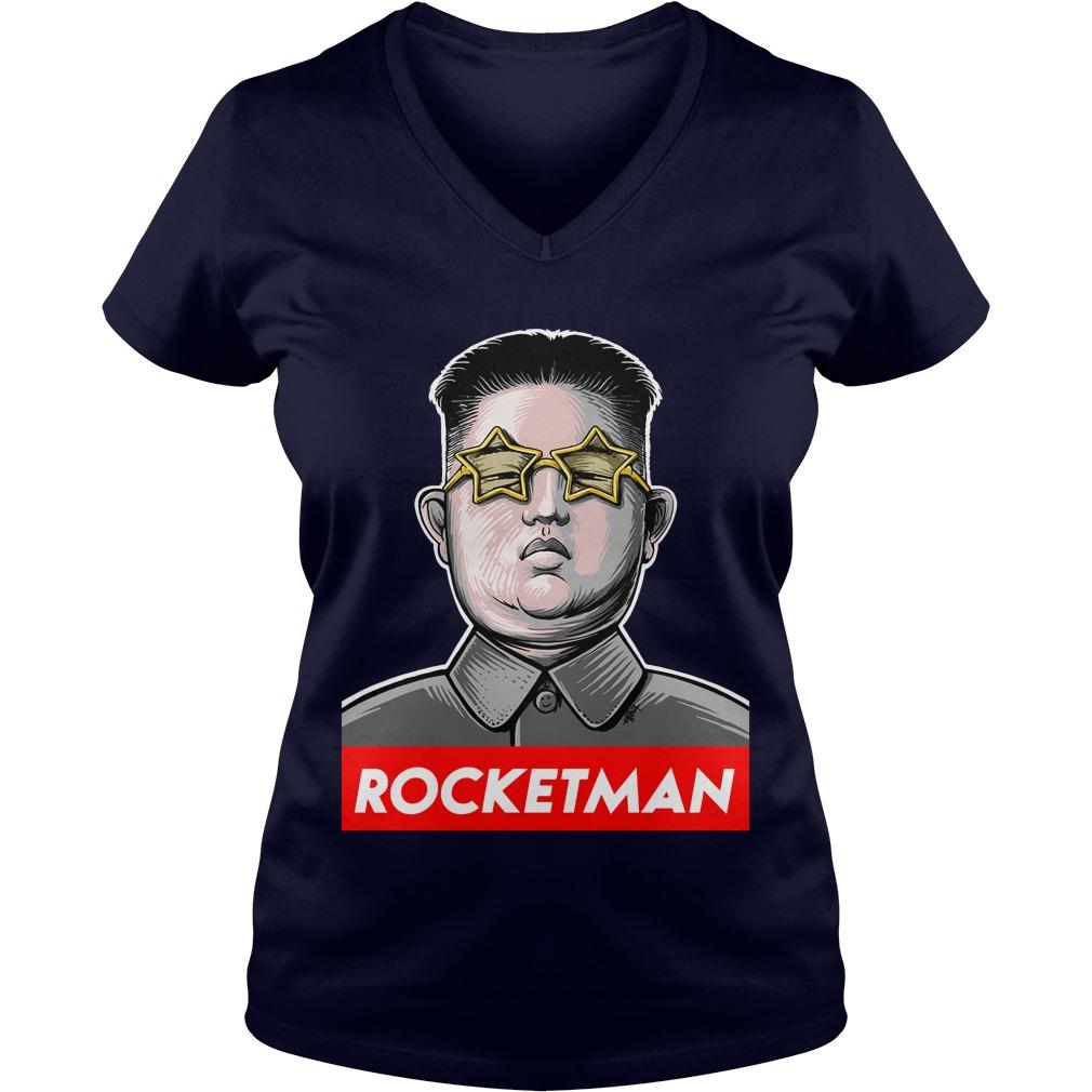 Kim Jong Un: Rocketman V-neck T-shirt