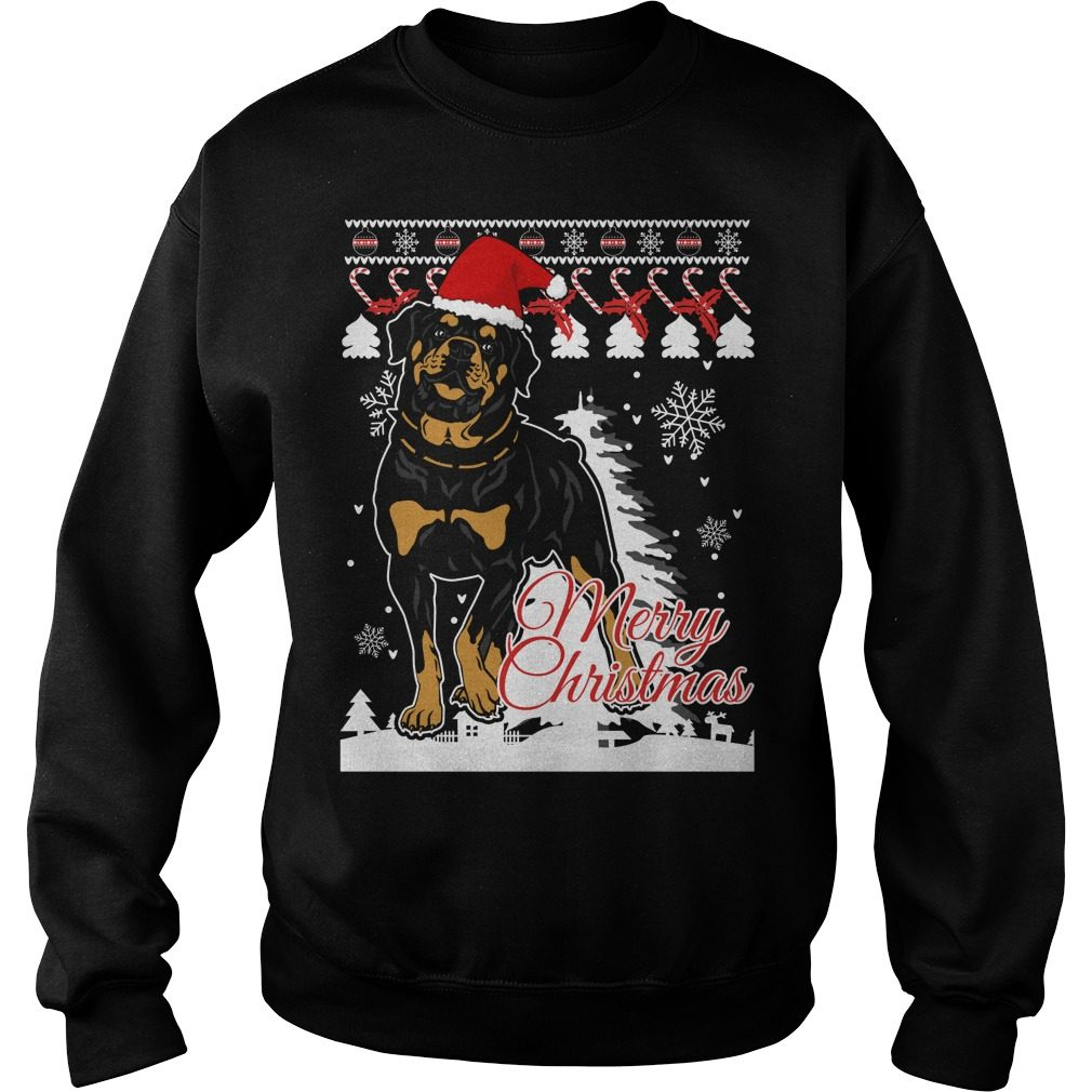 Rottweiler Dog Christmas Ugly Sweater