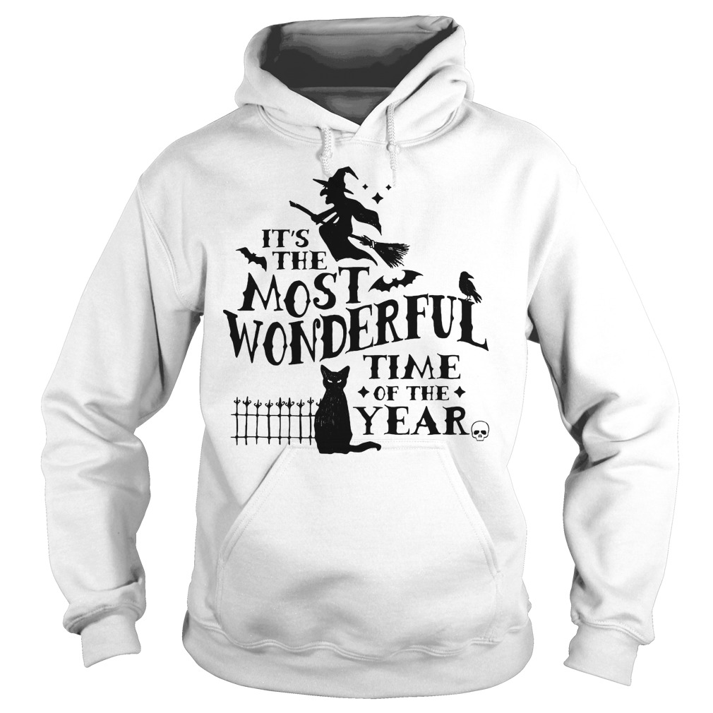 It's The Most Wonderful Time Of The Year Witch And Cat Hoodie