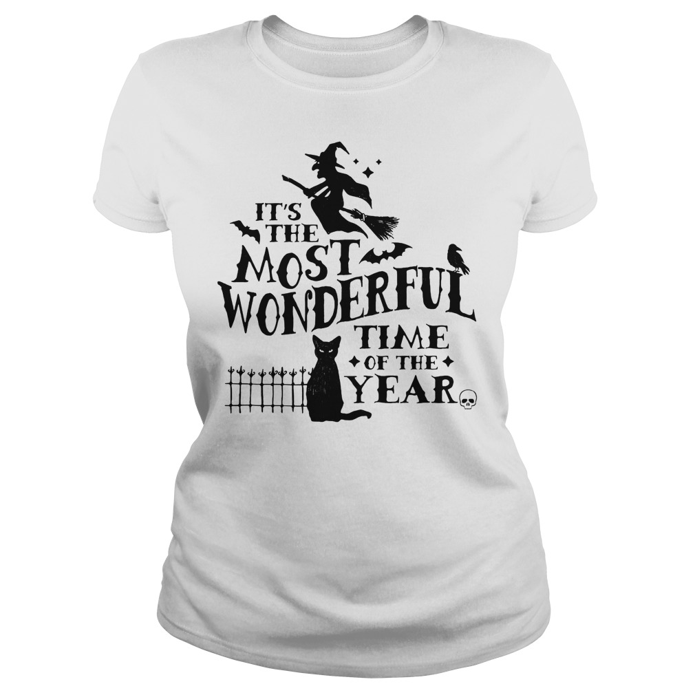 It's The Most Wonderful Time Of The Year Witch And Cat Ladies Tee