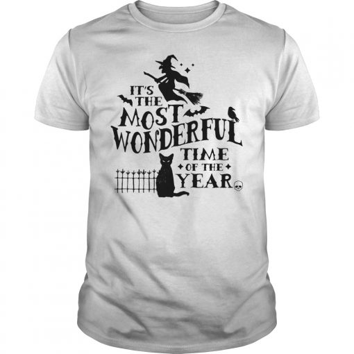 It's The Most Wonderful Time Of The Year Witch And Cat Shirt