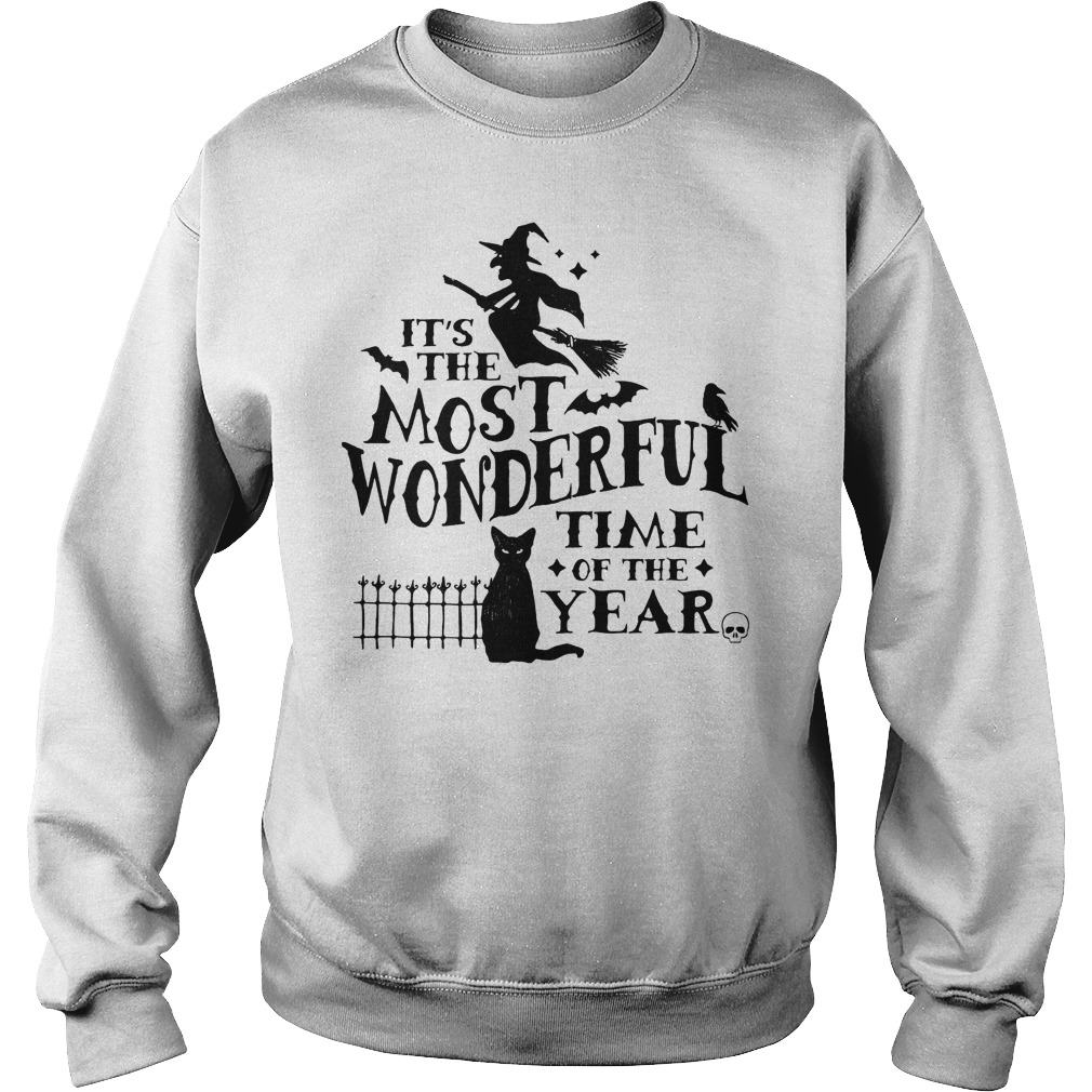 It's The Most Wonderful Time Of The Year Witch And Cat Sweater