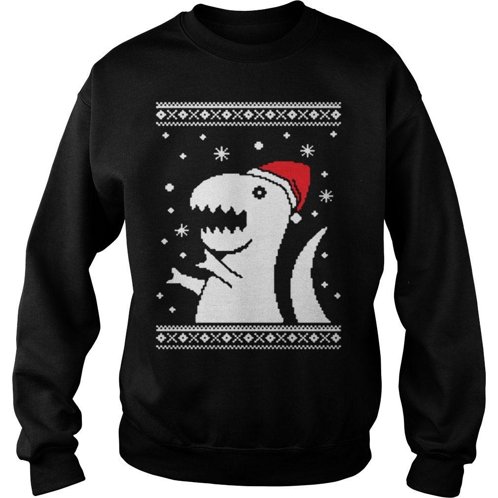 Big Trex Santa Ugly Christmas Sweater
