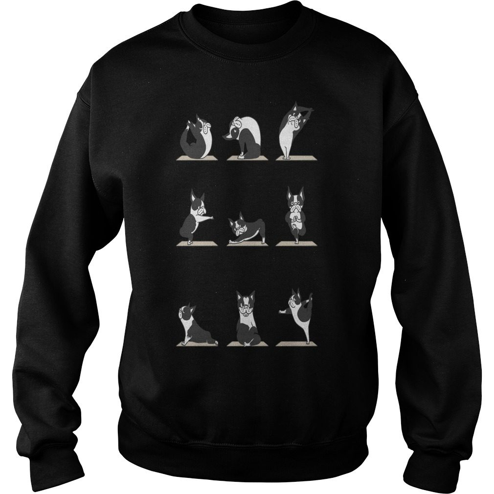 Boston Terriers Yoga Merry Christmas Dog Sweater