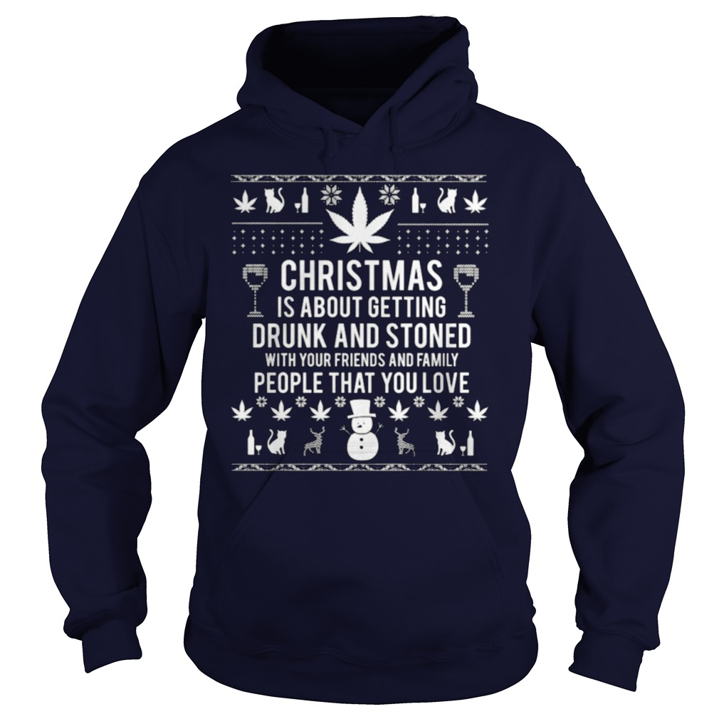 Christmas Is About Getting Drunk And Stone Sweater