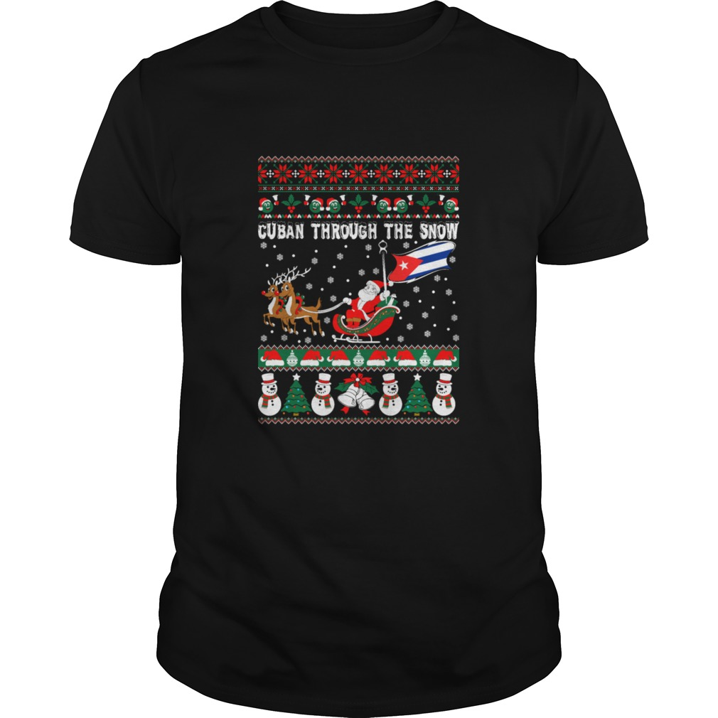 Cuban Through The Snow Christmas Ugly Sweater