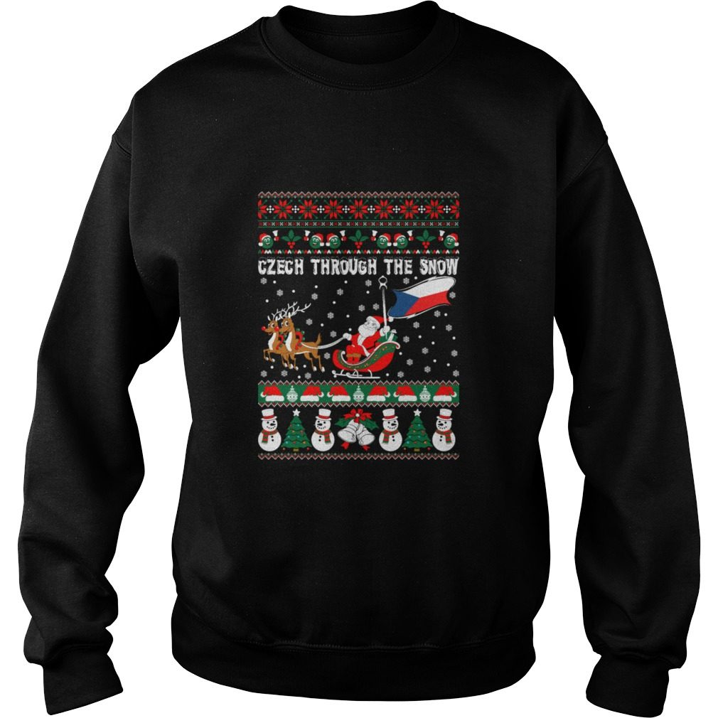 Czech Through The Snow Christmas Ugly Sweater