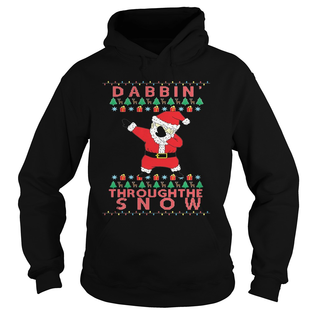 Mens Dabbin' Through The Snow Ugly Christmas Sweater