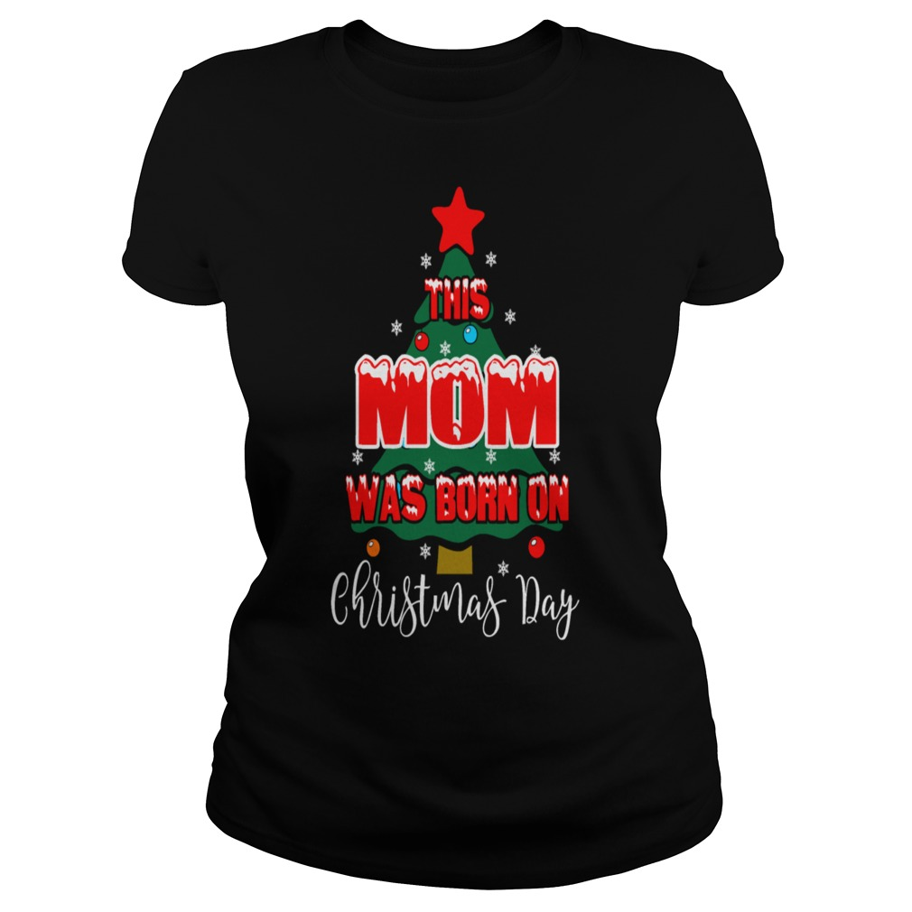 This Mom Born On Christmas Day Ugly Sweater