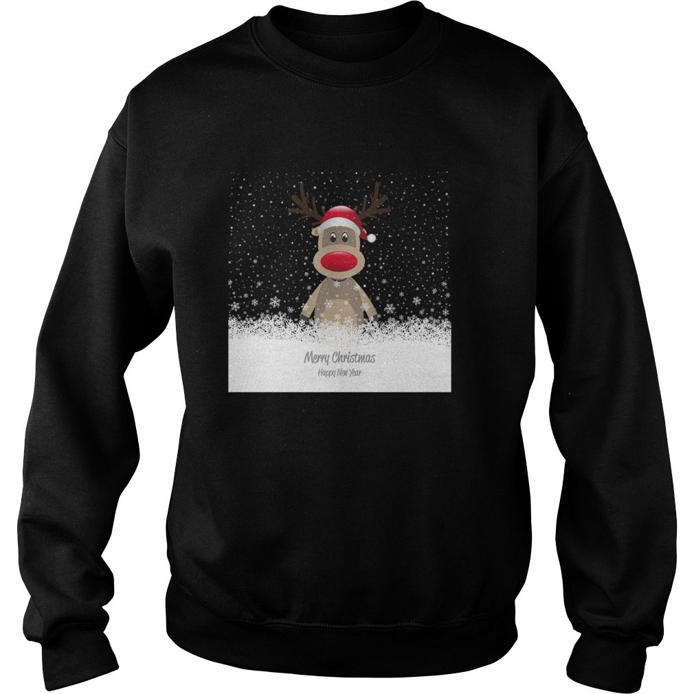 Reindeer Merry Christmas And Happy New Year Sweater