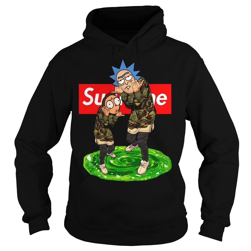 Supreme Rick And Morty Hoodie