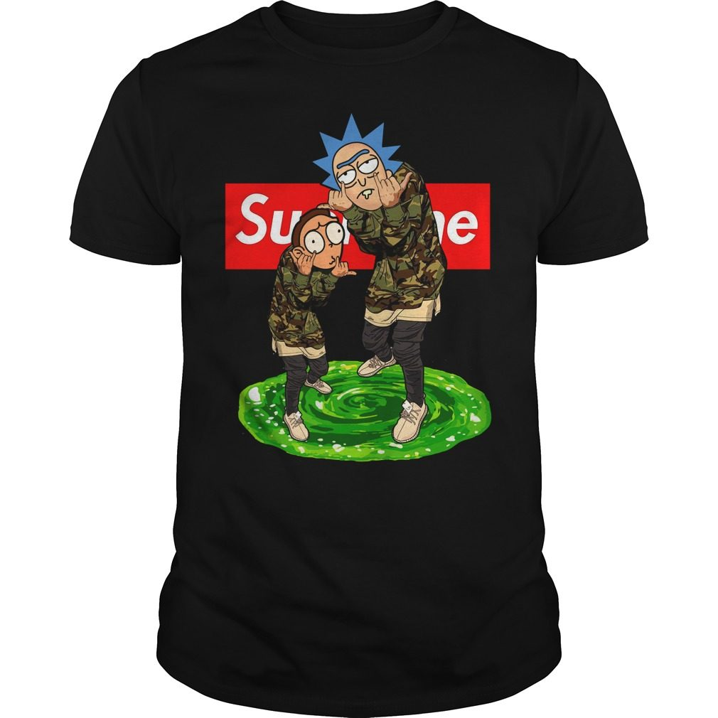 Supreme Rick And Morty Shirt