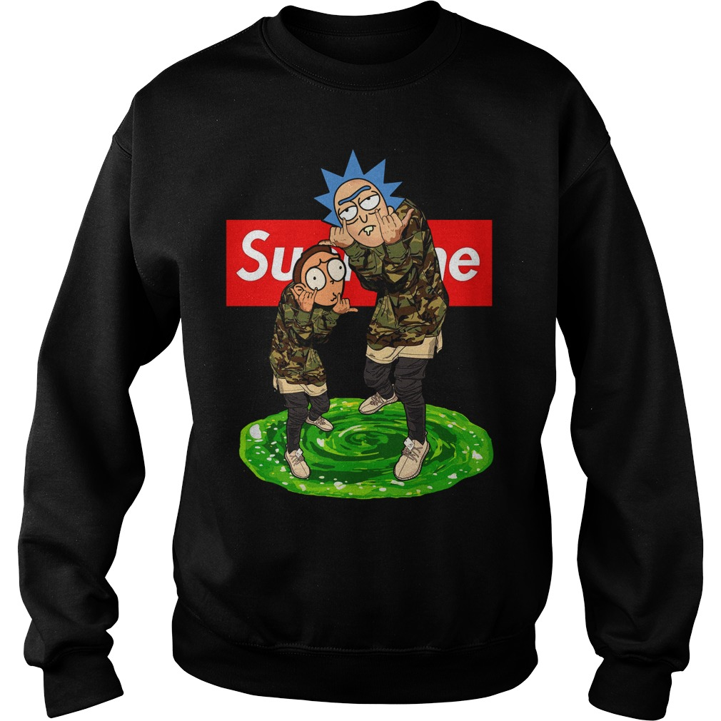 Supreme Rick And Morty Sweater