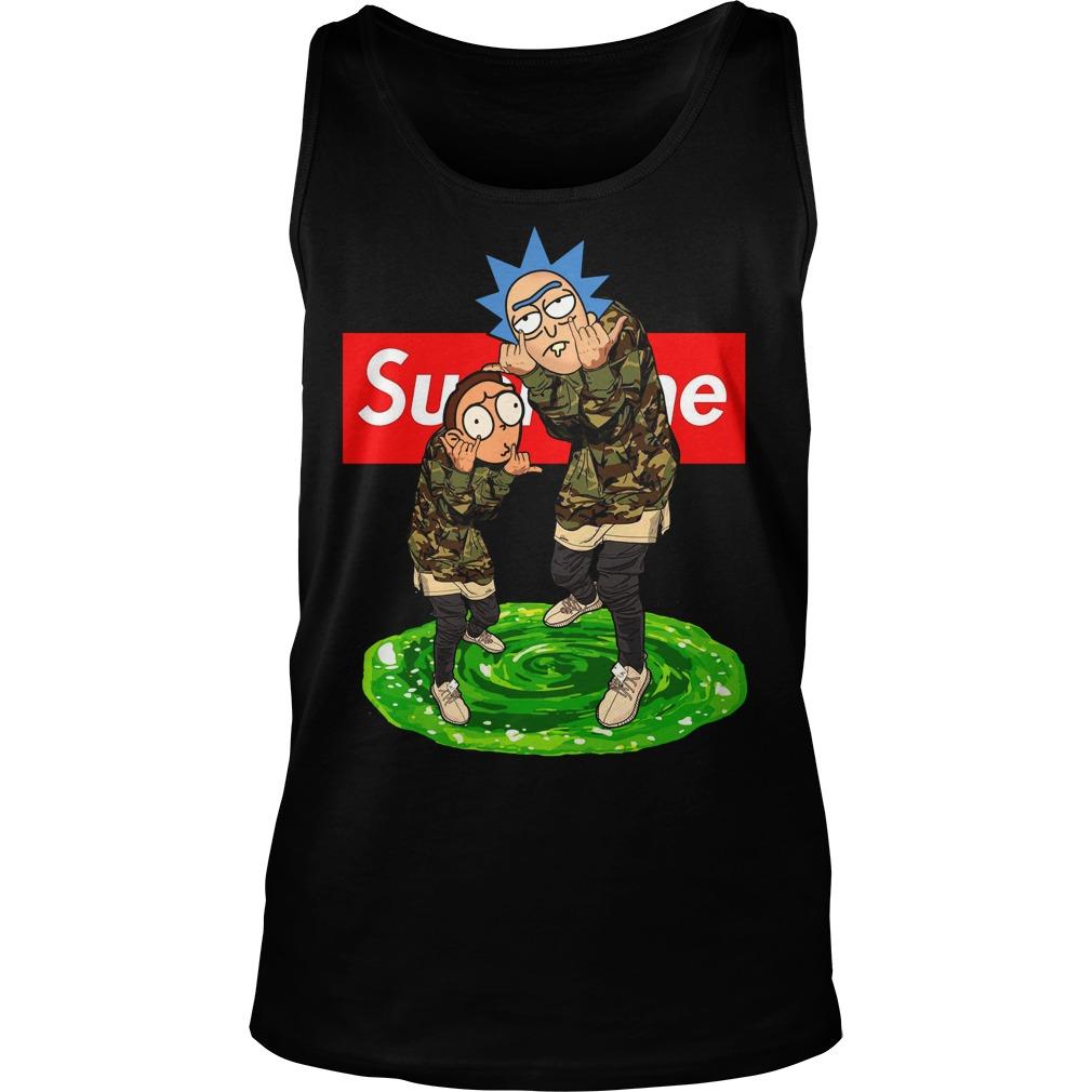 Supreme Rick And Morty Tank top
