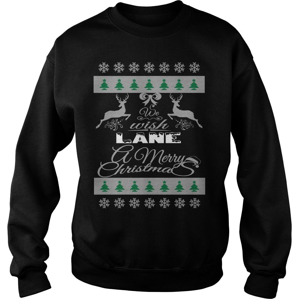 We Wish Lane A Merry Christmas Ugly Sweater