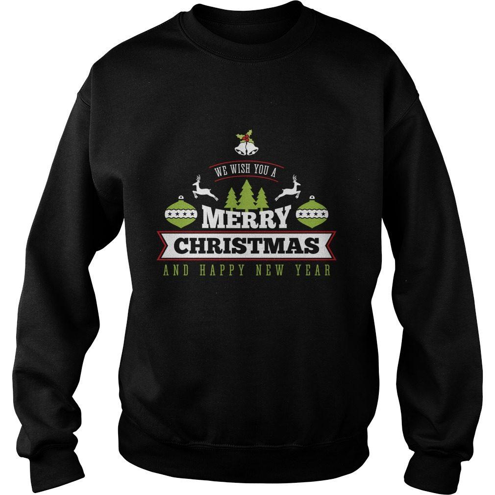 Wish Merry Christmas Happy New Year Sweater