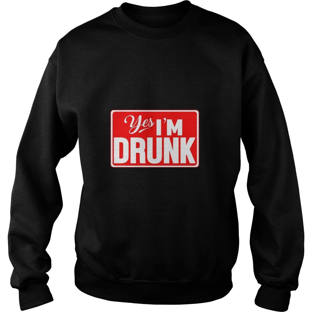 Yes, I'm Drunk Men's Sweater