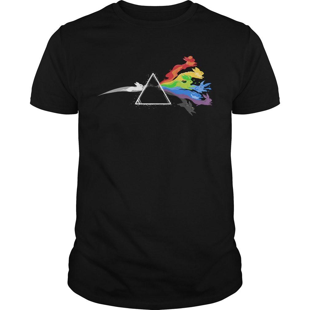 Pokemon Eevee Pink Floyd Shirt