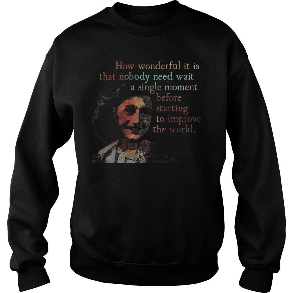 A Single Moment Anne Frank Shirt