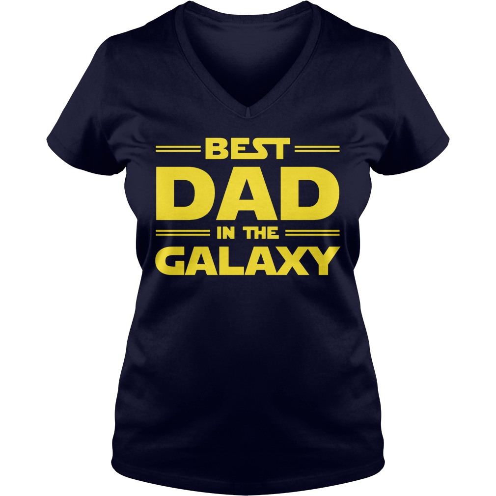 Best Dad Galaxy V Neck T Shirt