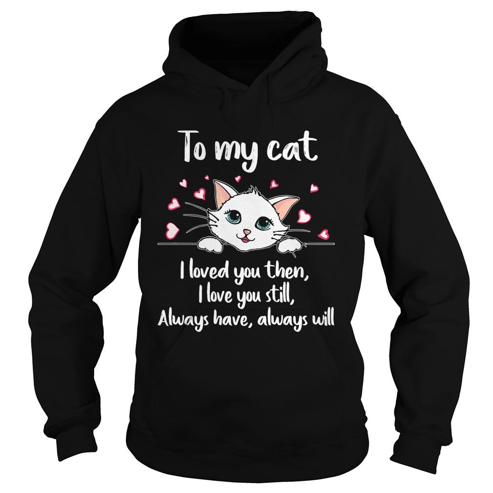 Cat Loved Love Still Always Always Will Hoodie