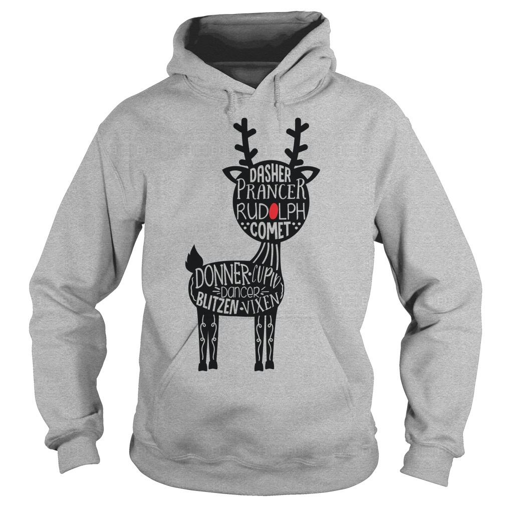 Christmas Dasher Prancer Rudolph Comet Hoodie