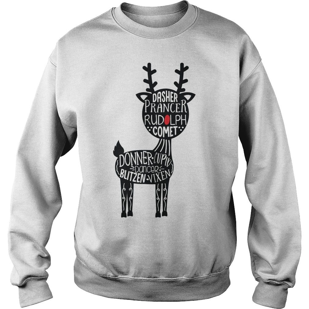 Christmas Dasher Prancer Rudolph Comet Sweater