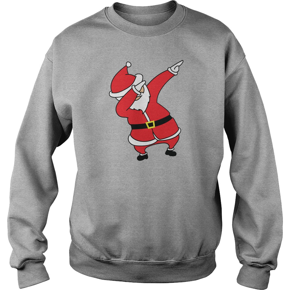 dabbing santa claus christmas sweater shirt hoodie and longsleeve tee