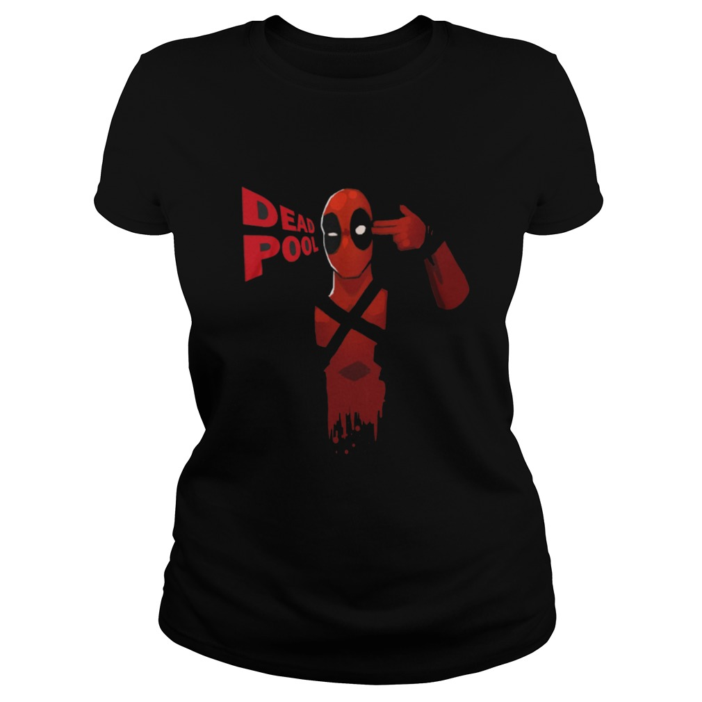 Deadpool Black Full Sleeve Ladies Tee