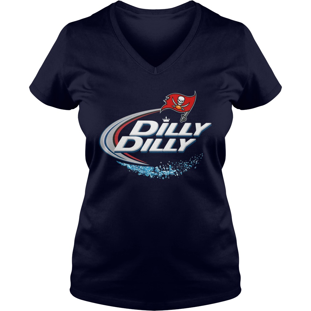 Dilly Dilly Tampa Bay Buccaneers V Neck T Shirt