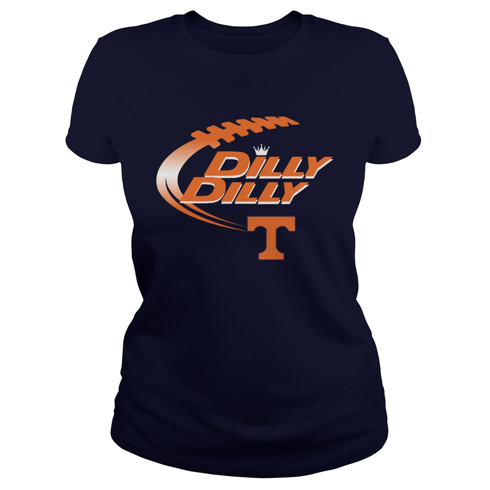 Dilly Dilly The Teague Lions Nfl American Football Bud Light Logo Ladies Tee