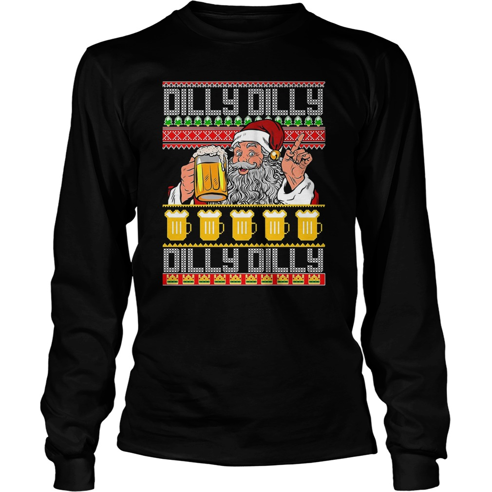 Dilly Dilly True Friend Crown Beer Funny Beer Crown Ugly Longsleeve Tee