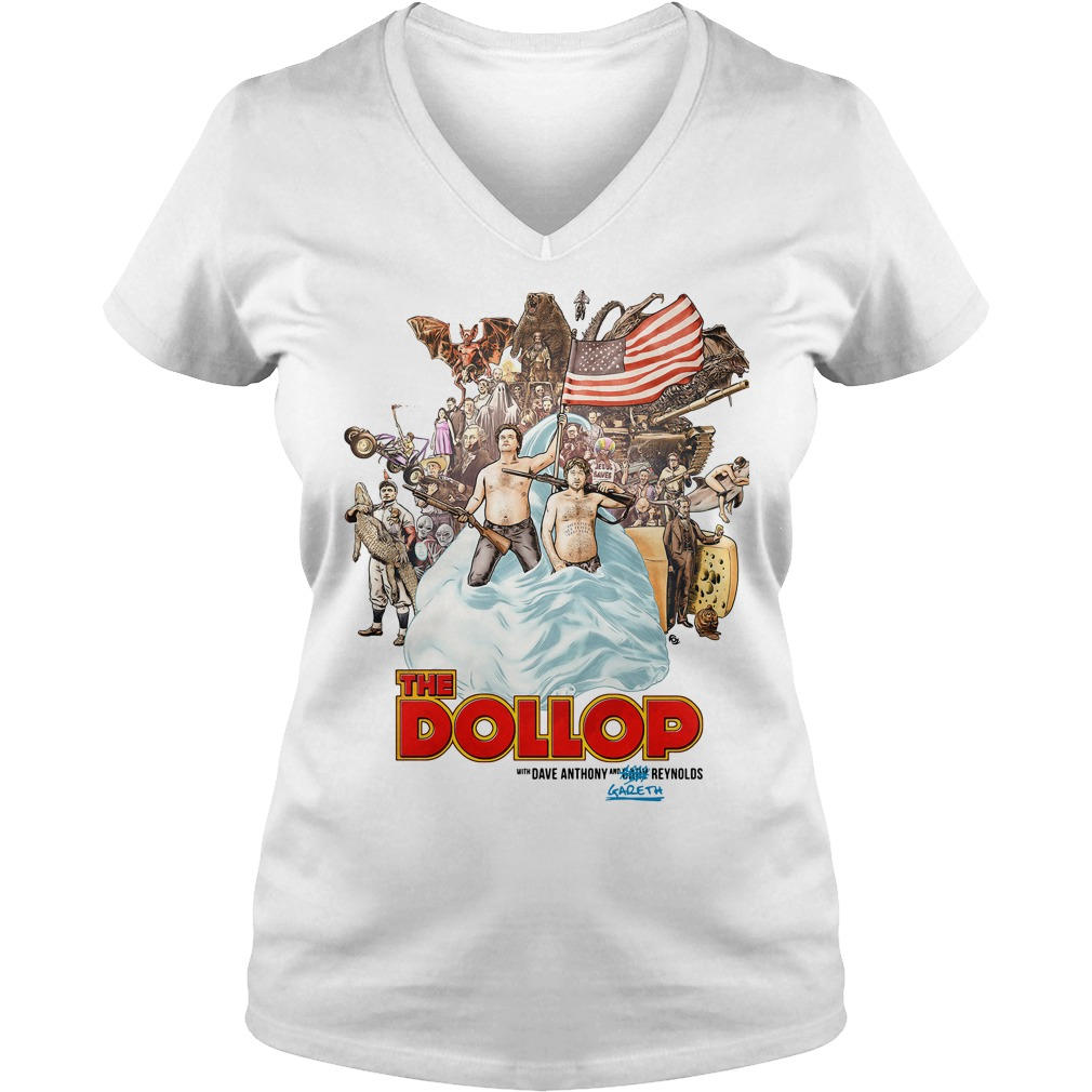 Dollop Dave Anthony Gareth Reynolds V-neck t-shirt