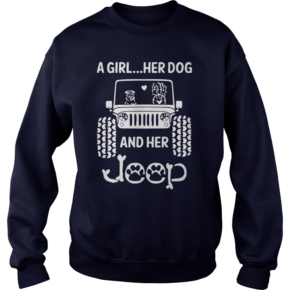 Girl Dog Jeep Sweater