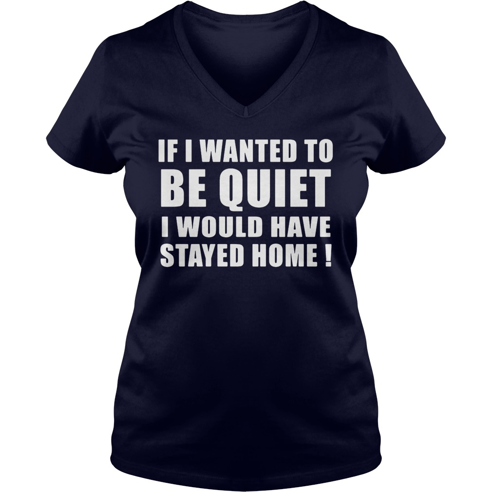 If I Wanted To Be Quiet I Would Have Stayed Home V-neck t-shirt