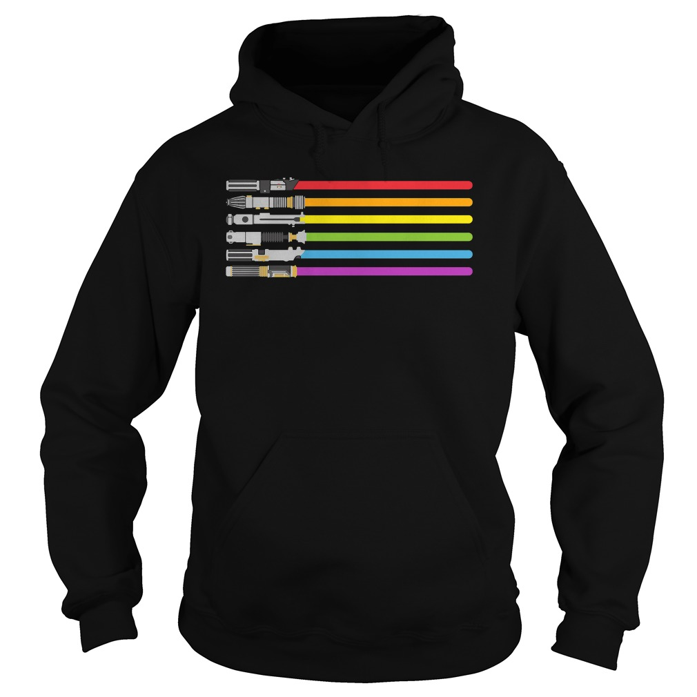 Lightsaber Rainbow Shirt, Hoodie, Sweater And V Neck T Shirt