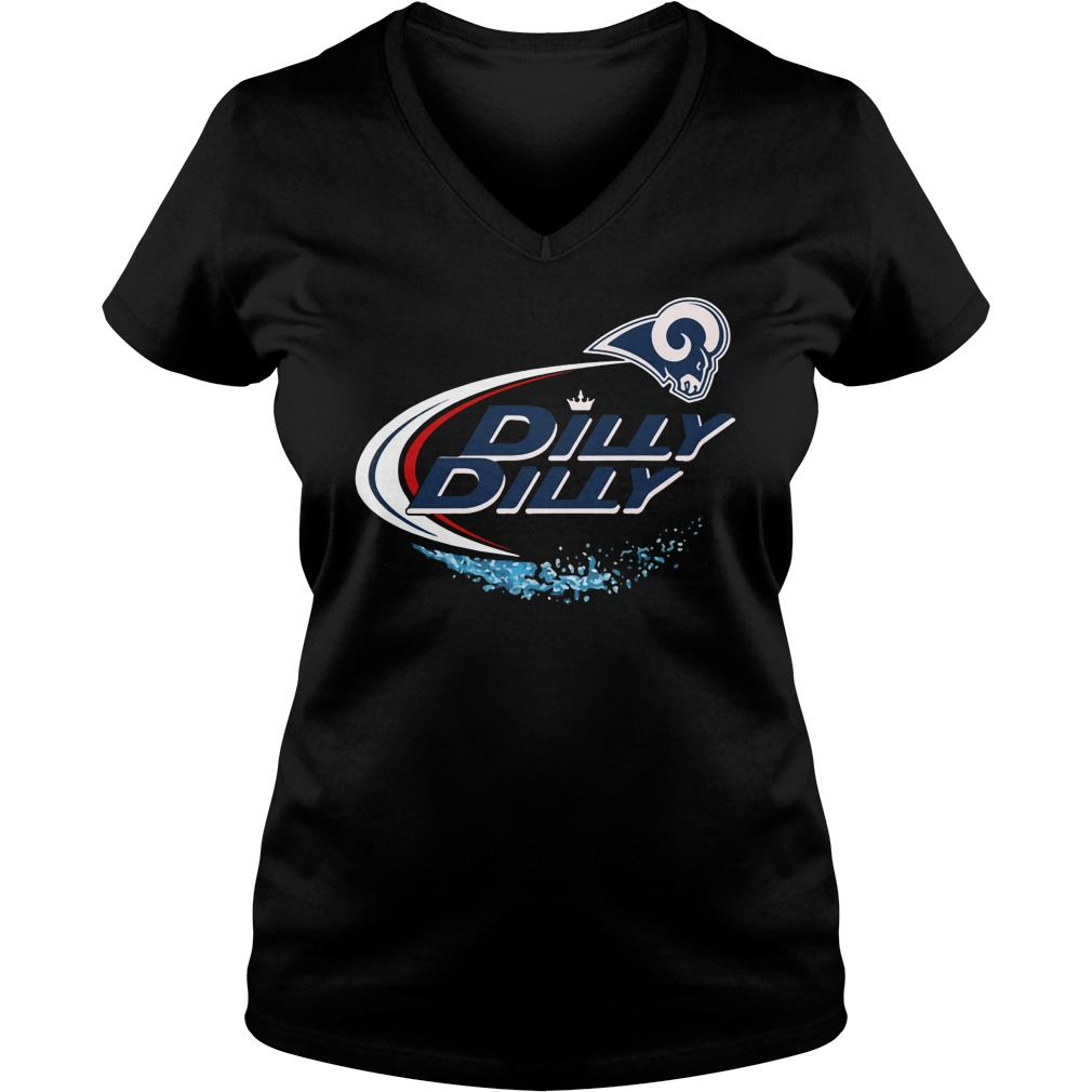 Los Angeles Rams Dilly Dilly V-neck t-shirt