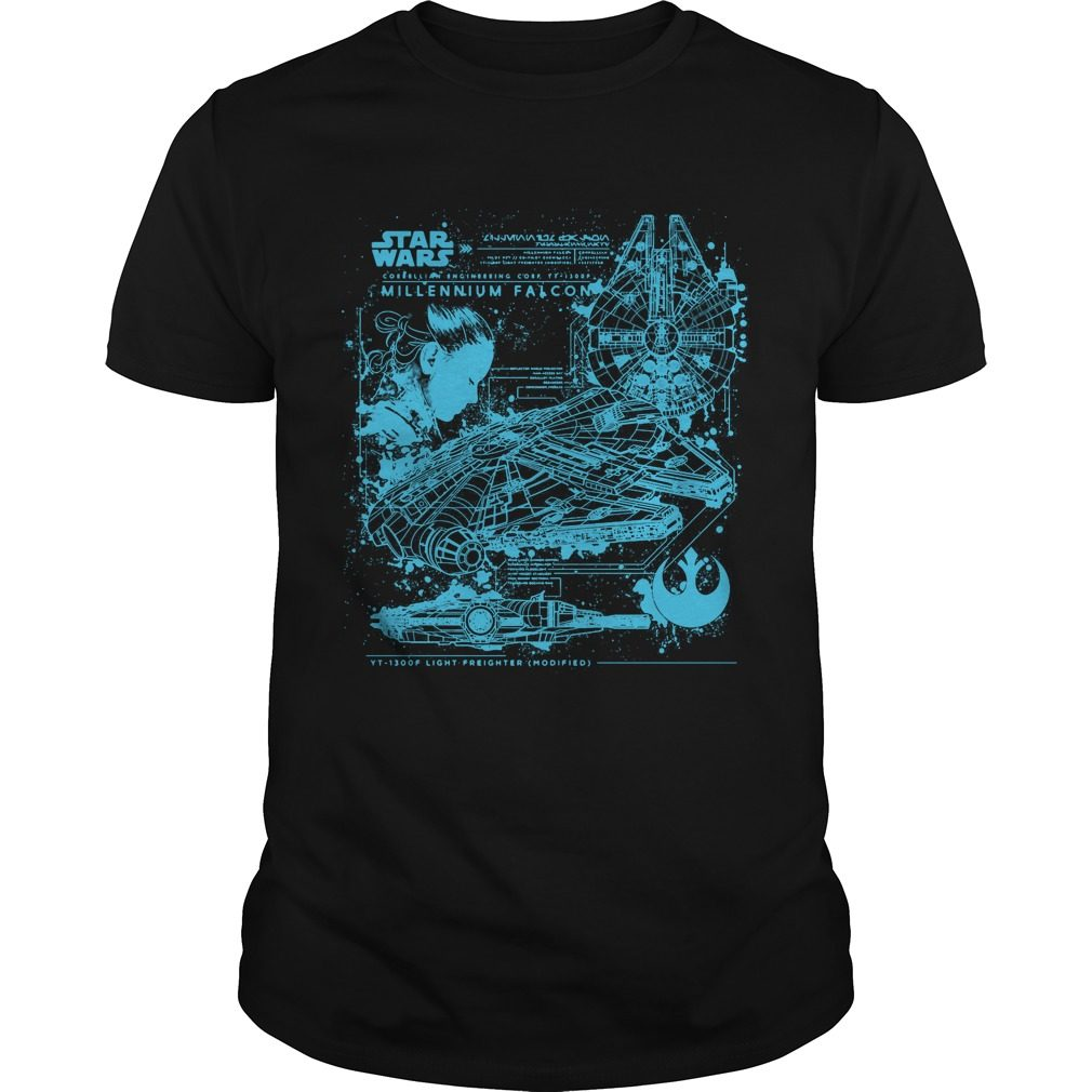 Millennium Falcon Blueprint Shirt
