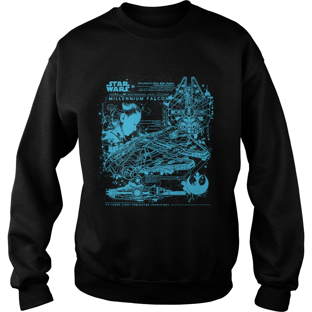 Millennium Falcon Blueprint Sweater