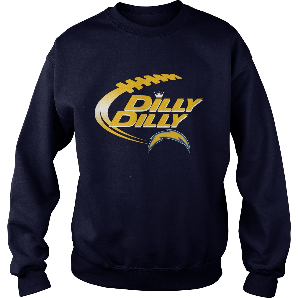 Offical Dilly Dilly Los Angeles Chargers Nfl Football Bud Light Logo Sweater
