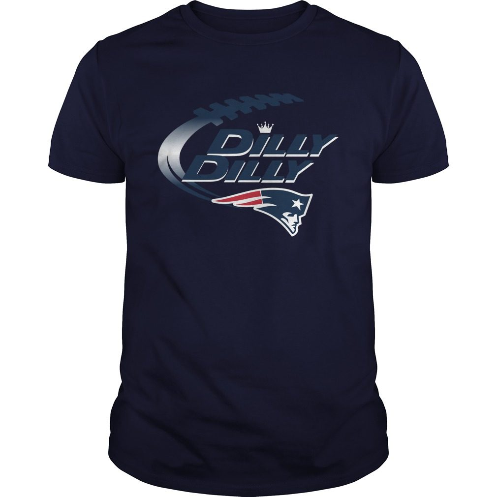 Offical Dilly Dilly New England Patriots Nfl Football Bud Light Logo Shirt