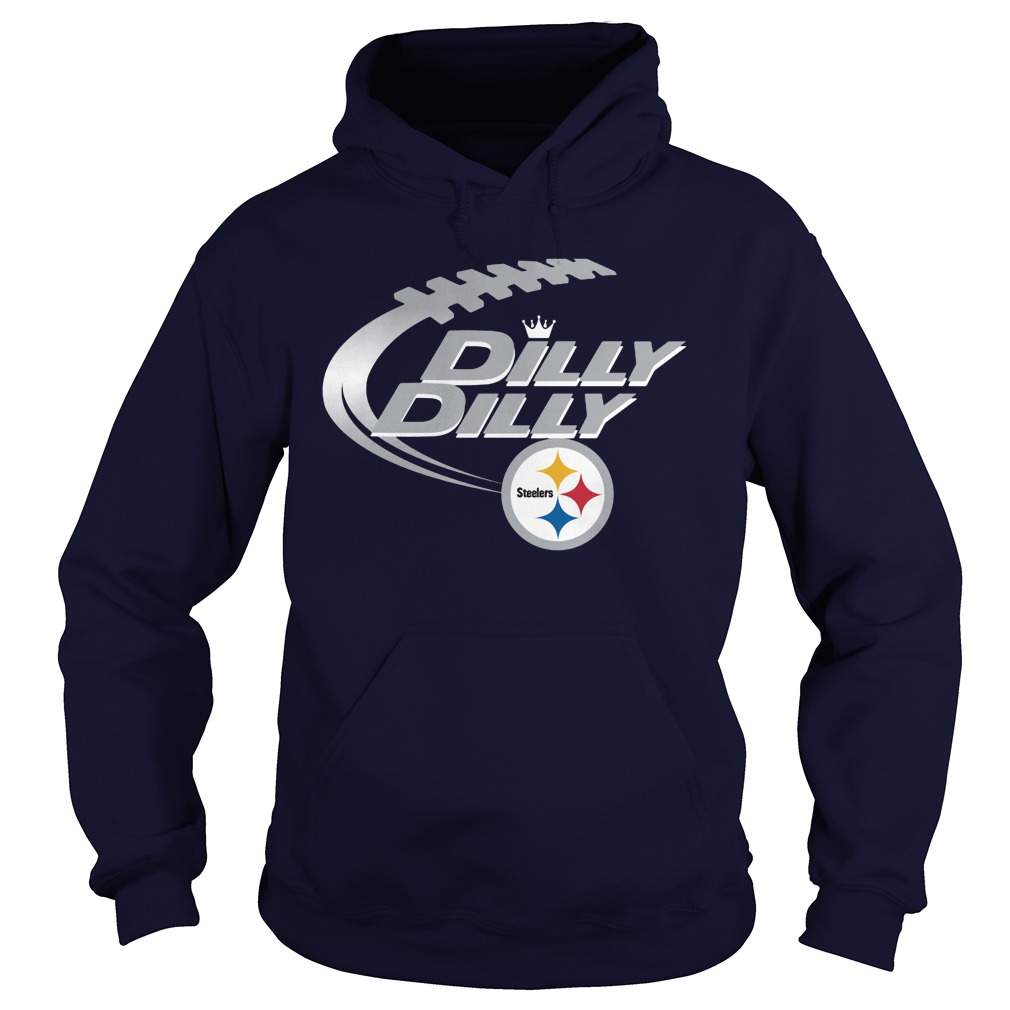 Offical Dilly Dilly Pittsburgh Steelers Nfl Football Bud Light Logo Hoodie