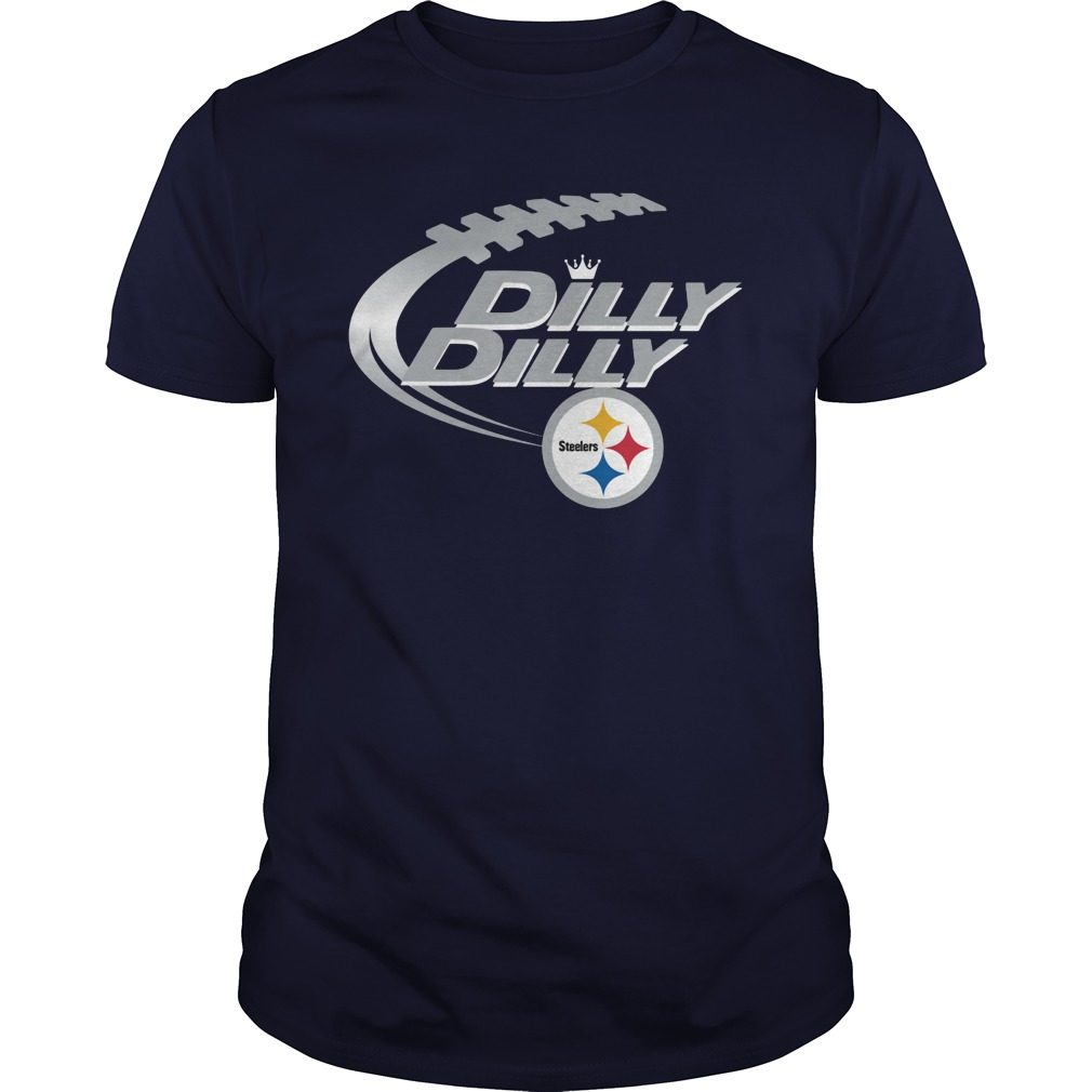 Offical Dilly Dilly Pittsburgh Steelers Nfl Football Bud Light Logo Shirt